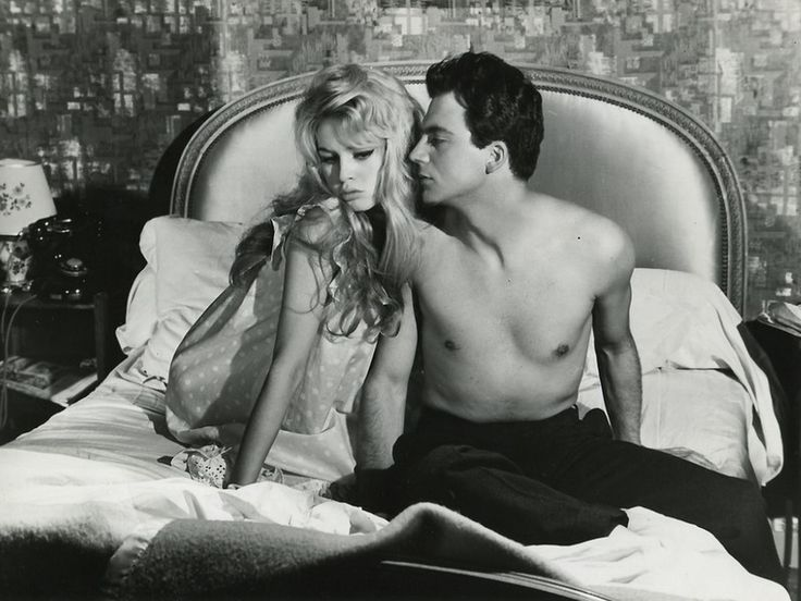 Brigitte Bardot and Franco Interlenghi in En cas de malheur directed by Claude Autant-Lara, 1958