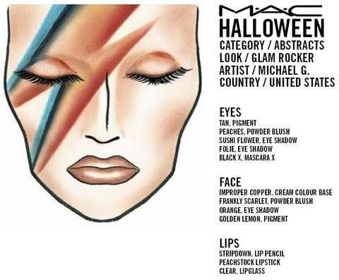 Rock! David Bowie makeup >:) and mucho more..!                              …