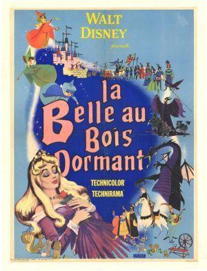 Affiche du dessin animé La Belle au Bois Dormant sortie en 1959