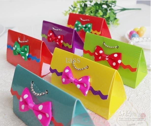 couleurs arc-en-ciel candy candy de mariage boîte sac à main favor boîtes parti…