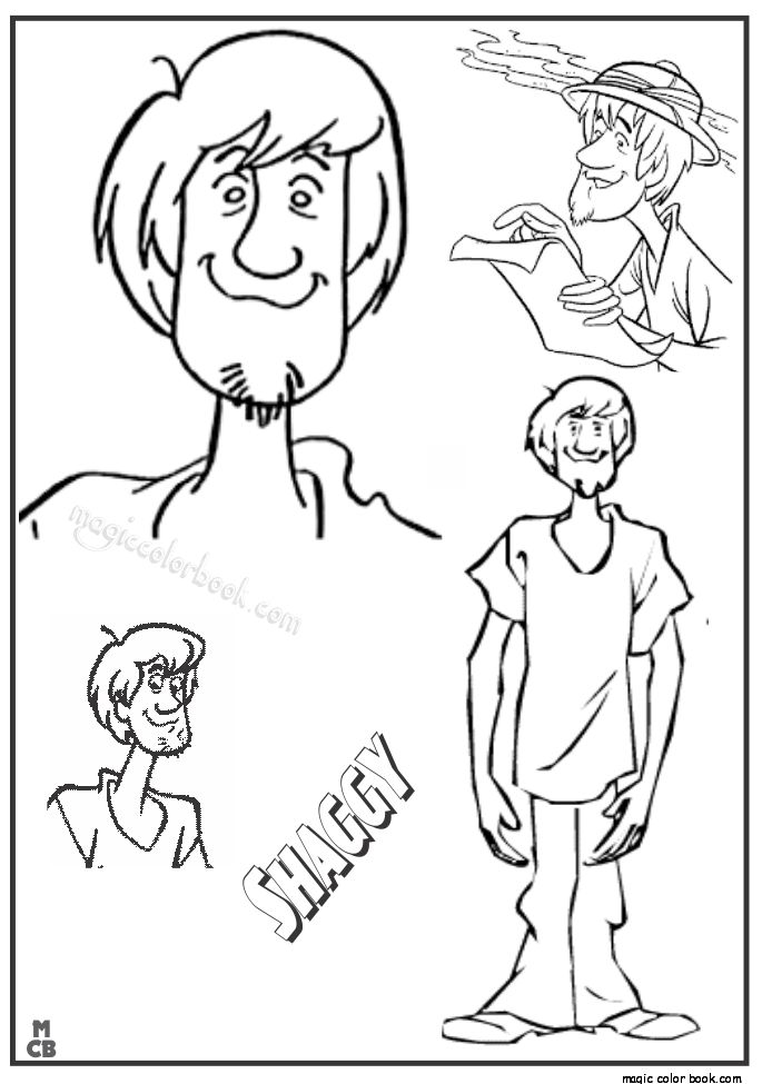scooby and shaggy coloring pages - photo#26