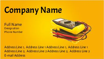 Electrician Services business visiting card design samples