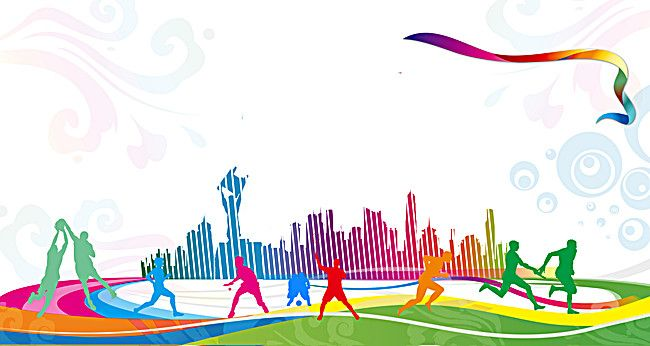 Sports Day Wallpaper: Sports Carnival Celebration Gradient Background