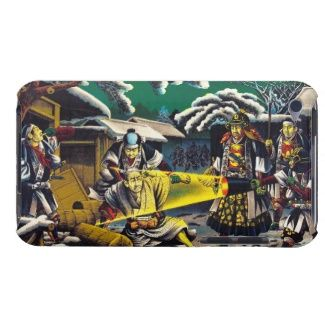 Classic historical painting Japan Bushido paragon Case-Mate iPod Touch Case #classic #historical #painting #Japan #Bushido #paragon #history #oriental #japanese #gift #samurai #shogun #warrior #night #scenery #Asia