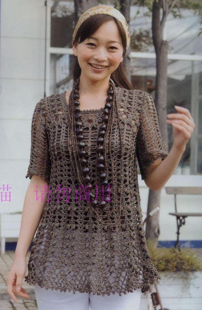 Crochetpedia: ganchillo Vestido corto o largo Camisas