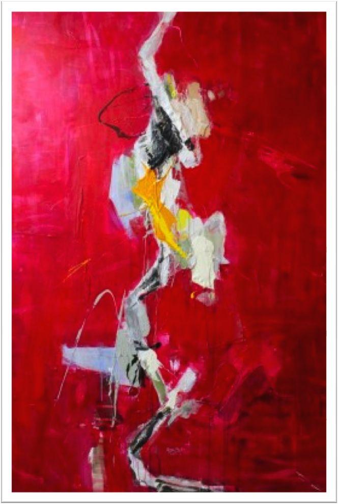 """Pavel Roučka """"les Uns Sur Les Autres""""  Acrylic on canvas 150x100   £10,000"""