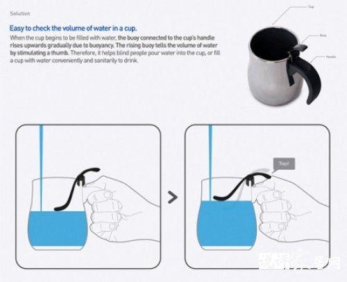 盲人專用防溢出杯子--實景套圖裝修案例-家居裝修-美飾傢居網