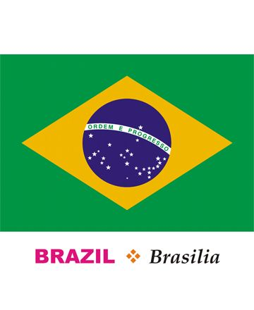 Brazil Flag Coloring Pages