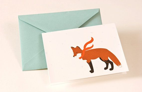 fox with scarf.Christmas Cards, Scarf Sodas, Cards Ideas, Cards Red, Holiday Cards, Foxes Foxes, Greeting Cards, Cards Inspiration, Red Foxes