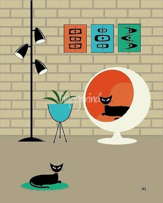 """Mini Mid Century Shapes"" by Donna Mibus, Dallas // From the Mid Century Modern Room Series // Imagekind.com -- Buy stunning fine art prints, framed prints and canvas prints directly from independent working artists and photographers."