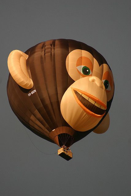 Hot-air Balloon Monkey Special Shape by spixpix,