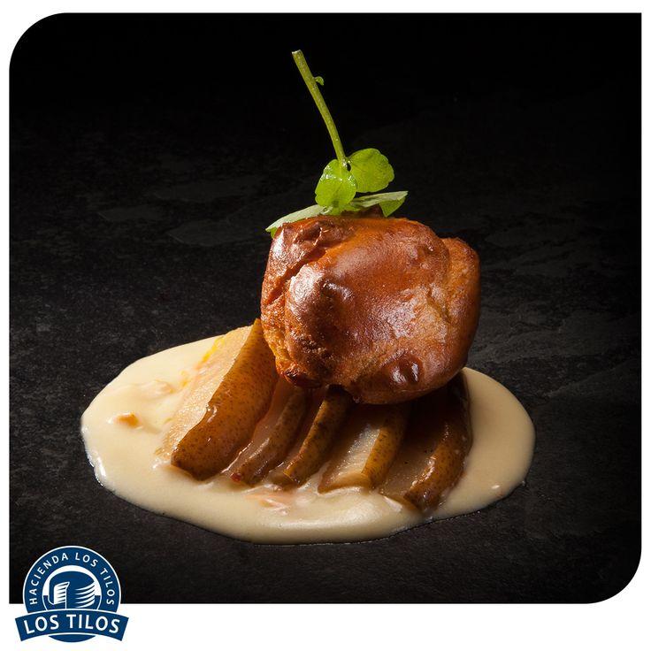 Gougères de Vacherin, peras y crema de Vacherin. #Recetas #Gourmet http://www.lostilos.cl/recipes/gougeres-de-vacherin-peras-y-crema-de-vacherin/