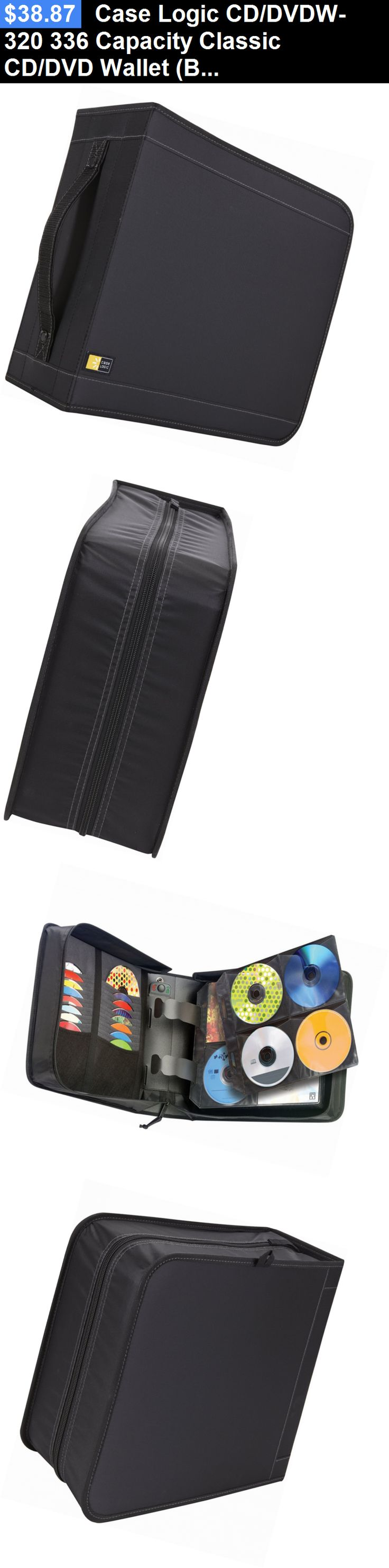 Media Cases and Storage: Case Logic Cd/Dvdw-320 336 Capacity Classic Cd/Dvd Wallet (Black) BUY IT NOW ONLY: $38.87