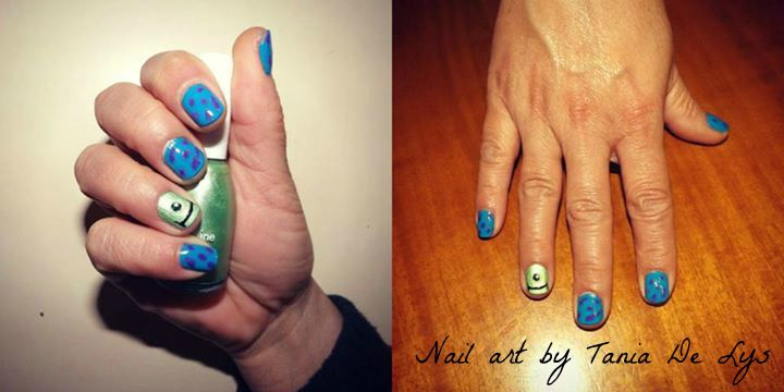monsters inc nail art