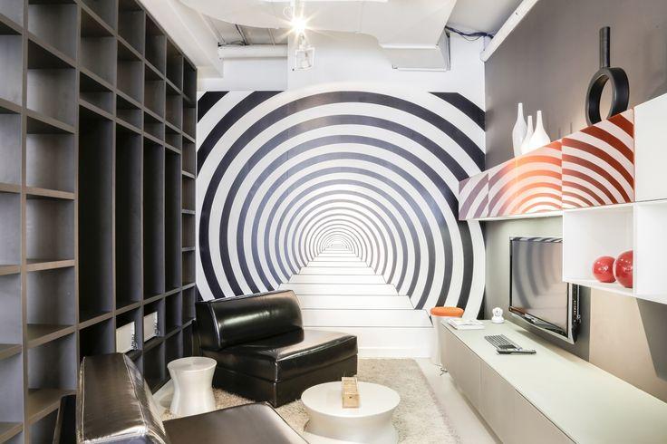 Scavolini - Motus Fluid living, Tetris kitchen, leading to the rabbit hole