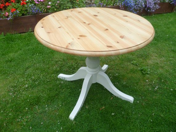 chunky pine kitchen table 1