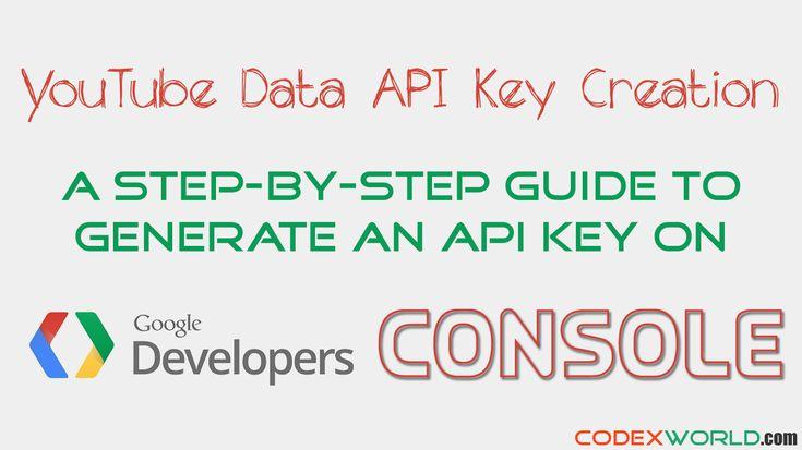 YouTube Data API Key Creation - Step-by-step guide to create API key for YouTube Data API v3. Learn how to generate YouTube Data API key on Google Developer Console.