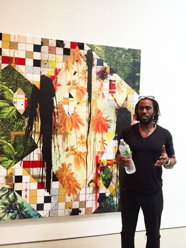 Rashid Johnson at a preview of his show 'Fly Away' at Hauser + Wirth.ARTNEWS