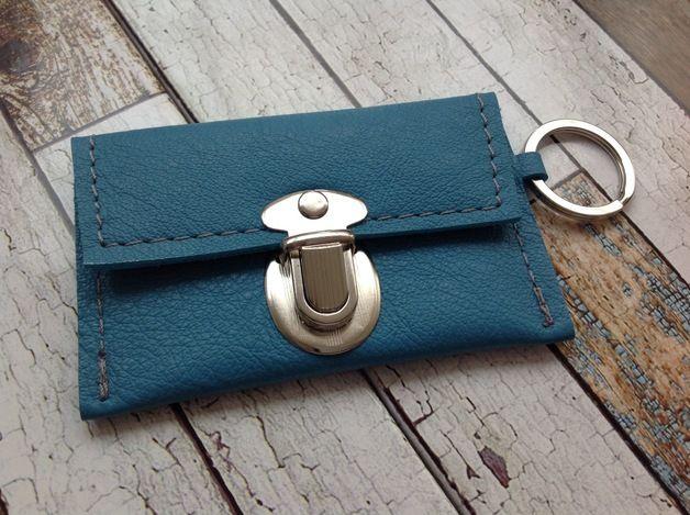 Schlüsseletuis - Leder Portemonnaie mit Schlüsselfach ( klein) - ein…