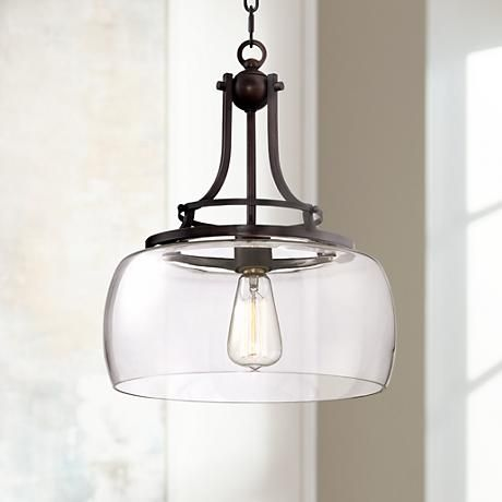 "Charleston 13 1/2"" Wide Clear Glass Pendant - #4F066 