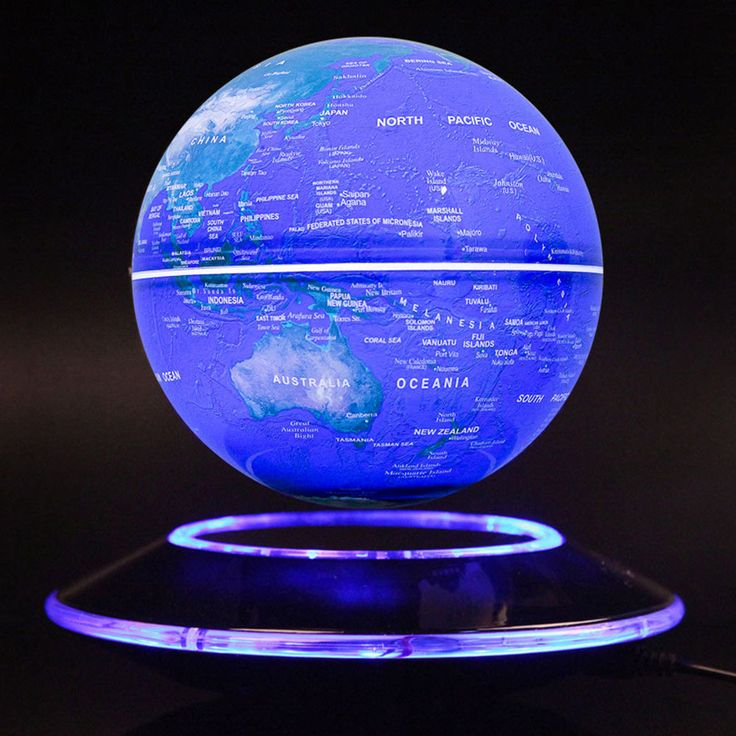 World Magnetic Levitation Floating Globe Home Deco Special Birthday Gift For New #MagicLucky