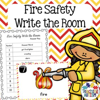 This activity includes 10 different write the room flashcards with recording sheets for students to fill in. All images and vocabulary are linked to the theme of Fire Safety. There is a recording sheet and answer key included for