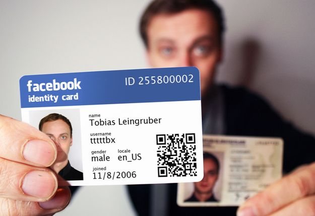 Facebook identity cards. A reality in Germany. I want one but maybe for my FriendsReunited account.