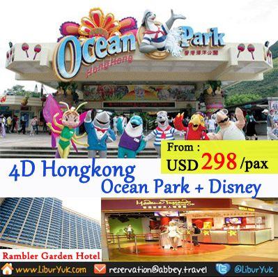 Paket liburan ke Hongkong + Disneyland http://liburyuk.com/listpackage/4D+HONGKONG+OCEAN+PARK+%2B+DISNEYLAND   #LiburYuk #Holiday #Jalan2 #Hongkong #Disneyland #OceanPark #AbbeyTravel