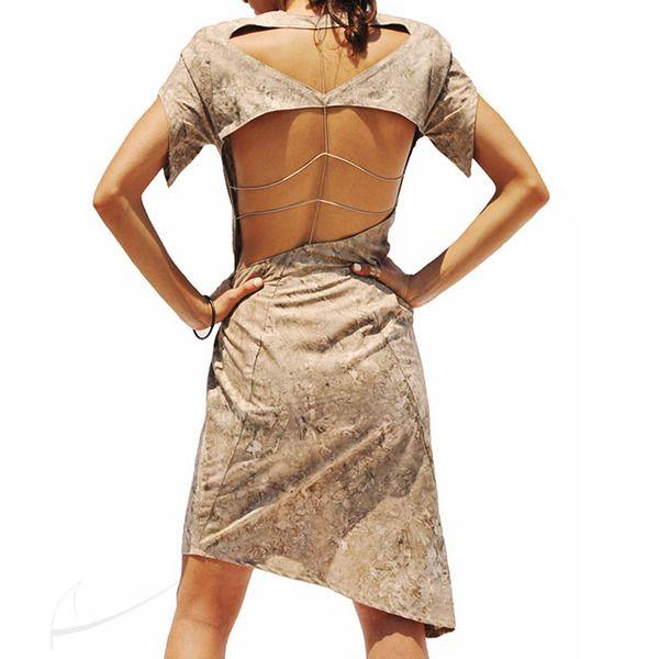 Sukienka z ażurowymi plecami w Łatka fashion na DaWanda.com