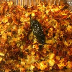 Bacon and Bourbon Thanksgiving Stuffing
