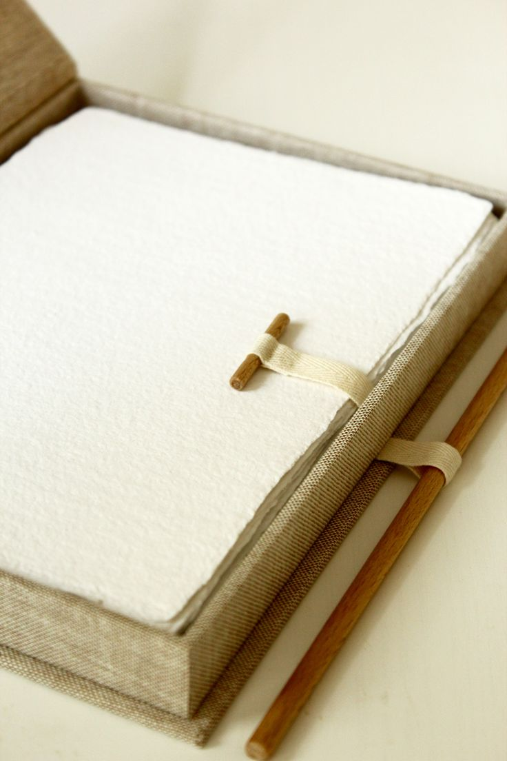 Box for 25 handmade papers.