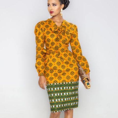 Robes a manches longues: une tendance à adopter pour cet automne @kaelakayonline #africanprint #Pagnifik #africanfashion