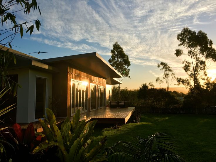 Stunning South Coast sunset from an equally stunning home - solar passive, sustainable and energy efficient new build.  Design, interiors, styling and photography by Green Draft.  www.greendraft.com.au