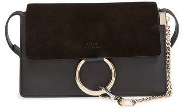 Chloe Small Faye Leather Shoulder Bag - Black