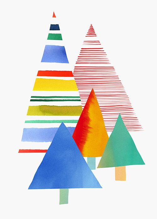 Margaret Berg : holiday / christmas: Xmas Tree Collage Card