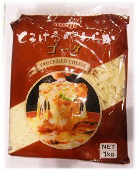 【冷めてもやわらか!プロセスチーズ】明治 とろけるやわらかゴーダ【1kg】  timein.jp
