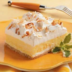 """Creamy Coconut Dessert - this is an easy recipe and great for """"food day"""" at work."""