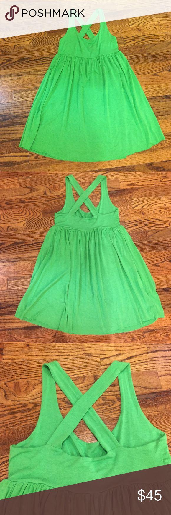 Rachel Pally Dress Rachel Pally Kelly green crisscross back dress. Fun and flirty dress! Runs big. 92% Modal, 8% Spandex. Rachel Pally Dresses