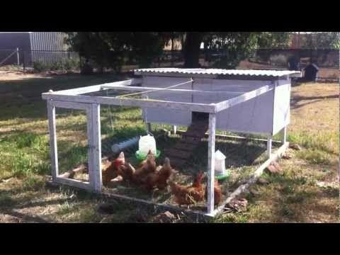 Tour our chicken tractor diy portable chicken coop for Diy portable chicken coop