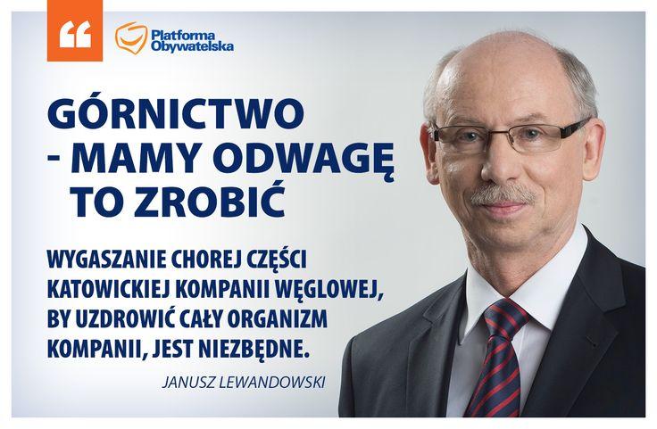 Mamy plan, mamy determinację, a nasz cel jest jasny - naprawa sytuacji w górnictwie.  Janusz Lewandowski udzielił wywiadu Gazecie Wyborczej. Całą rozmowę znajdziecie pod tym adresem: http://wyborcza.pl/politykaekstra/1,143089,17250890,Gornictwo___mamy_odwage_to_zrobic.html