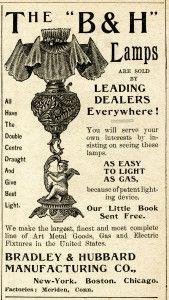 Free Vintage Image ~ Bradley & Hubbard Lamps Advertisement
