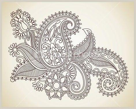 Хна цветочный тату дизайн - Depositphotos