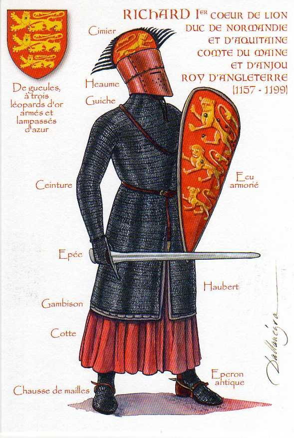 Richard I of England (8 September 1157 – 6 April 1199)   by ourpostcards