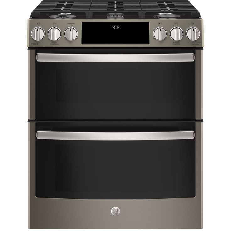 GE Profile Series 30 Slide-In Front Control Gas Double Oven Convection Range (Assembled - Stainless Steel (Silver) - Gas)