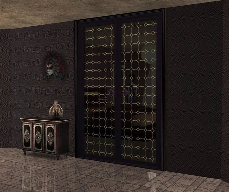 "Mod The Sims - Project ""Maiden's bedroom "" . Part 9. Doors. Set ""Royal caprice""(Maxis Double Doors recolors)."
