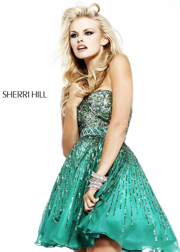 Green Sherri Hill 8526 Sequin Short Ball Gown 2014 - $172.00 : 2014 Prom Dresses Online Sale,Cheap Sherri Hill Dresses