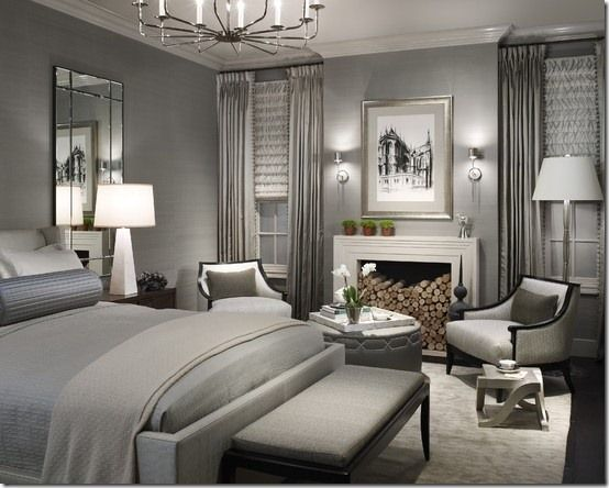 #Master bedroom with sultry #silver and #charcoal grey coloured theme @google.co.za