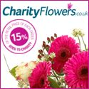 Charity Flowers donate 15% from the cost of the bouquet to us