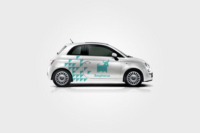 Bosphorus identity Car wrap design print designation blue logo branding