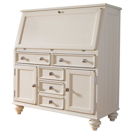 Work from home, balance your checkbook, or pen thank you notes at this classic secretary desk, showcasing 5 bottom drawers and 2 cabinets for all your essent...